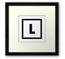 "Alphabet ""L"" Framed Print"