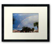 Rainbow Morning Framed Print
