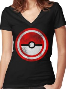 Captain Catch 'Em All Women's Fitted V-Neck T-Shirt