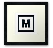 "Alphabet ""M"" Framed Print"
