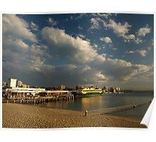 Late Afternoon Sun Manly Wharf Poster