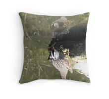 White-crowned Sparrow ~ Topsy Turvy! Throw Pillow