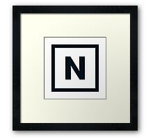 "Alphabet ""N"" Framed Print"