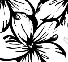 Plumeria in Hawaii Style Sticker