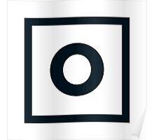"""Alphabet """"O"""" Poster"""