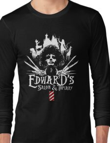 Edward's Salon and Topiary - Edward Scissorhands Long Sleeve T-Shirt