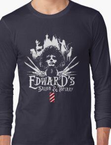 Edward's Salon and Topiary - Edward Scissorhands Long Sleeve T-Shirt