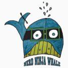 Nerd Ninja Whale (my daughters art and design) by Elizabeth Burton