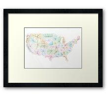 New United States Framed Print