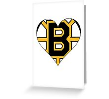 Boston Bruins love Greeting Card