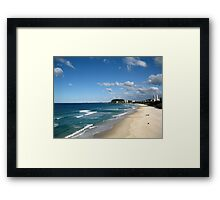 North Burleigh Beach Framed Print