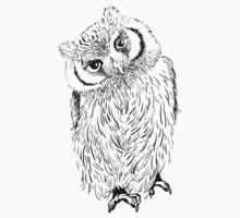 Owl hand drawn by OlgaBerlet