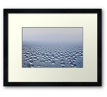 Condensation drops on glass  Framed Print