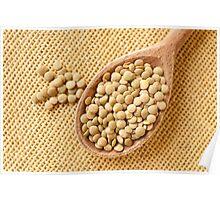 Green lentils grains  Poster
