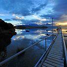 Lake Te Anau sunset. South Island, New Zealand. (2) by Ralph de Zilva