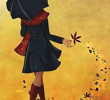 Autumn girl  by torishaa