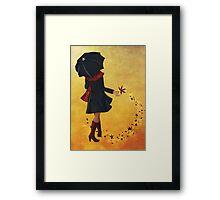 Autumn girl  Framed Print