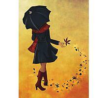 Autumn girl  Photographic Print