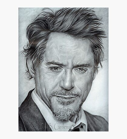 Faces-Robert Downey Jr. Photographic Print