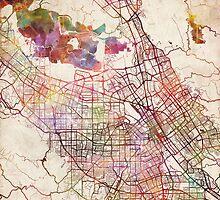 San Jose map by MapMapMaps
