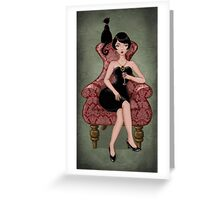 cocktail dress Greeting Card