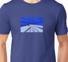 Blue Rays Abstract Unisex T-Shirt