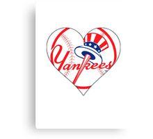 Yankees love Canvas Print