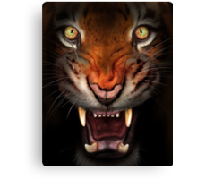 Fierce tiger Canvas Print