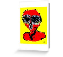 Aboriginal Alien by Raphael Terra Greeting Card
