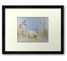 Oil painting Balance Framed Print