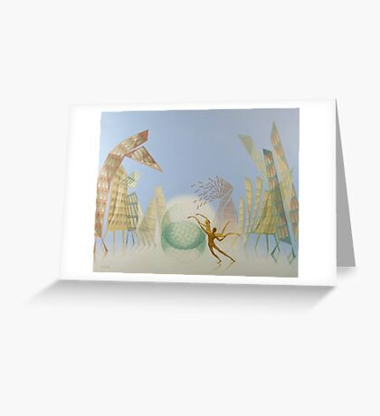 Oil painting Balance Greeting Card