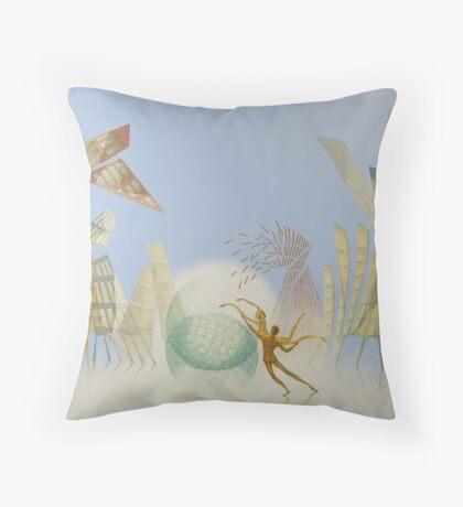 Oil painting Balance Throw Pillow