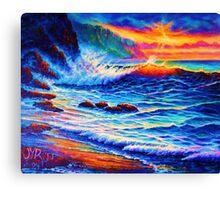 Sunset Peak a Boo Canvas Print