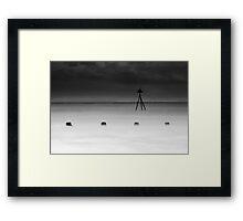 Tripod Perched Framed Print