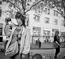 Tourist at ground zero by Laurent Hunziker