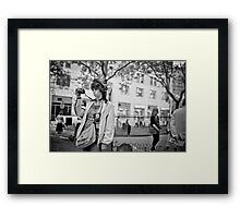 Tourist at ground zero Framed Print