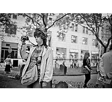 Tourist at ground zero Photographic Print
