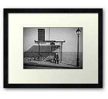 Bus waiting Framed Print