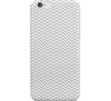 Christmas Silver and White Micro Chevron iPhone Case/Skin