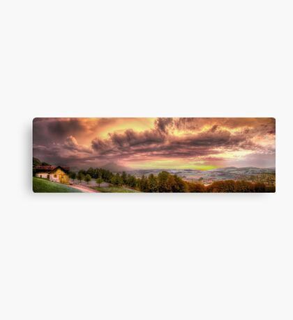 Swiss Storm Cell Panorama Canvas Print