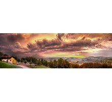 Swiss Storm Cell Panorama Photographic Print