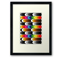Funky set of scales Framed Print