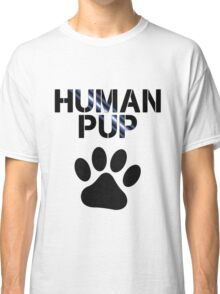 Human Pup With Pawprint Classic T-Shirt