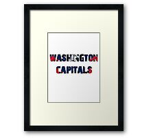 Washington Capitals Framed Print