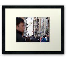 Crowded Rome Framed Print