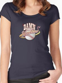 new york yankees Women's Fitted Scoop T-Shirt