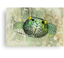 snake in green Canvas Print