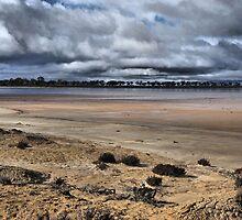 Moody Salt Lake - Western Australia by Bev Woodman