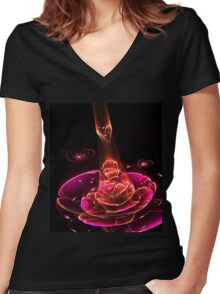 Receiver - Abstract Fractal Artwork Women's Fitted V-Neck T-Shirt