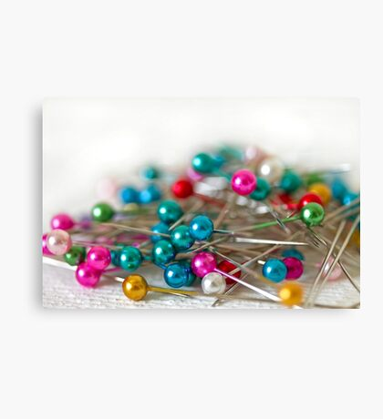 Coloured Pins Canvas Print